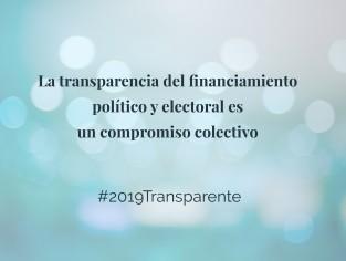 Financiamiento político y electoral transparente