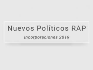 Políticos RAP incorporados durante 2019